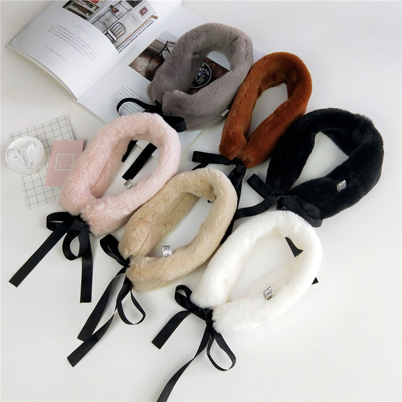 Apparel Accessories Adult Children Boys Girls Scarf Autumn Winter Kids O-ring Scarves Knitted Plush Baby Neck Collars Warm Kids Neckerchief Two Side Removing Obstruction