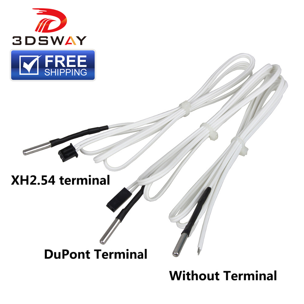 3DSWAY 3D Printer Parts 1M 2M HT NTC100K Thermistor Temperature Sensor for High Temperature Filament 350 Degrees Hotend Kit in 3D Printer Parts Accessories from Computer Office