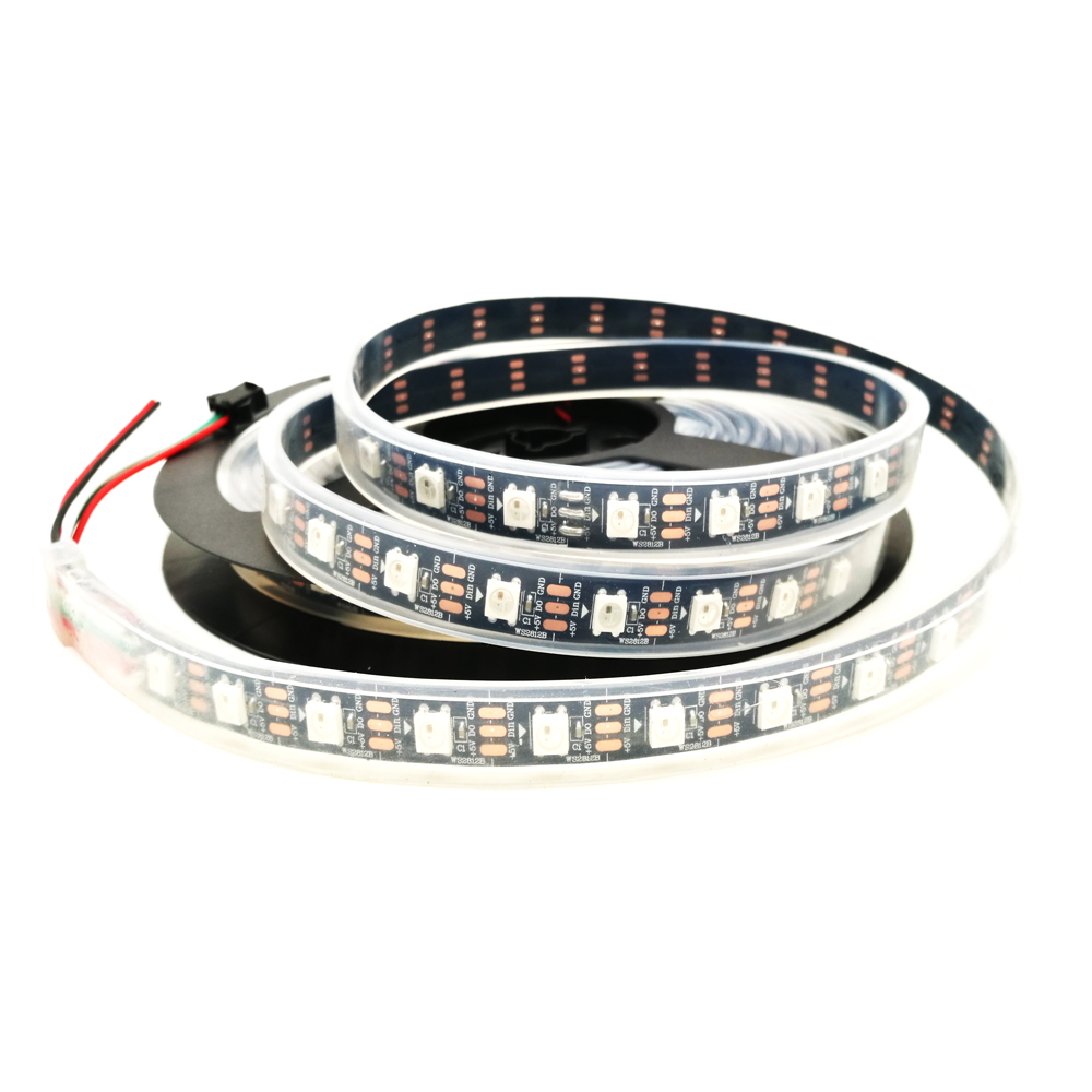 Led Lighting 50m/lot Led Strip Ws2812b Pixels Addressable Individual Dream Magic Color Black Pcb 1m/2m/3m/4m/5m Waterpfoof Ip67 Dc5v 60leds/m To Win Warm Praise From Customers