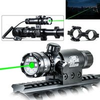 Green Point Laser Sight Gun Gun Holder and Remote Control Switch Hunting With Tools to Adjust Wind Speed and Height to Suit Need