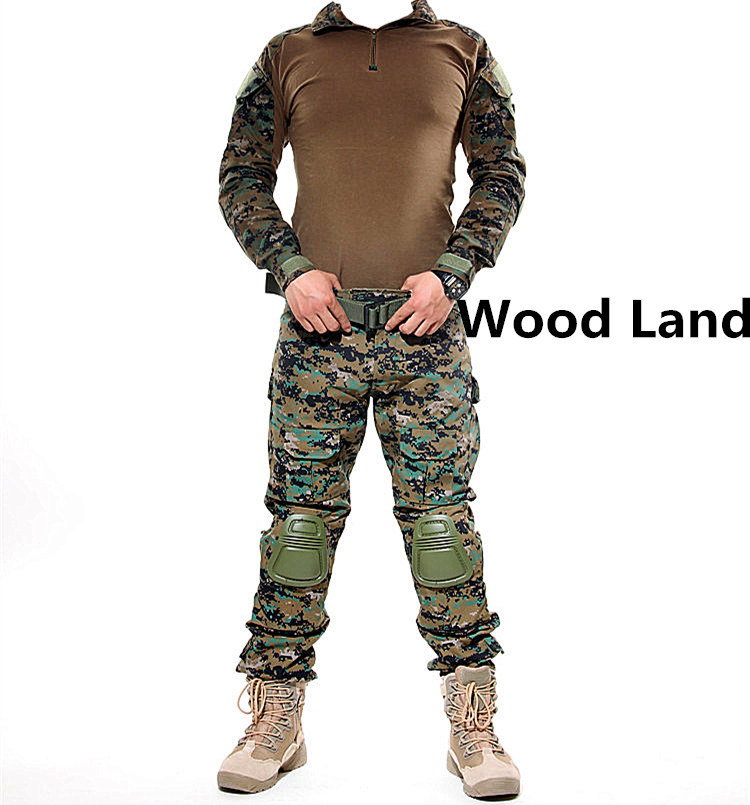 ФОТО Military clothing german camouflage suit kryptek camo uniform combat shirt pants pads tactical clothing for hunting