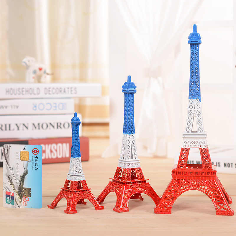 5 cm-48 cm Curiosidades De Antiguidades Bronze Tone Paris Torre Eiffel Estátua Estatueta Artesanato de Metal Modelo Vintage Decoração Para decoração do casamento