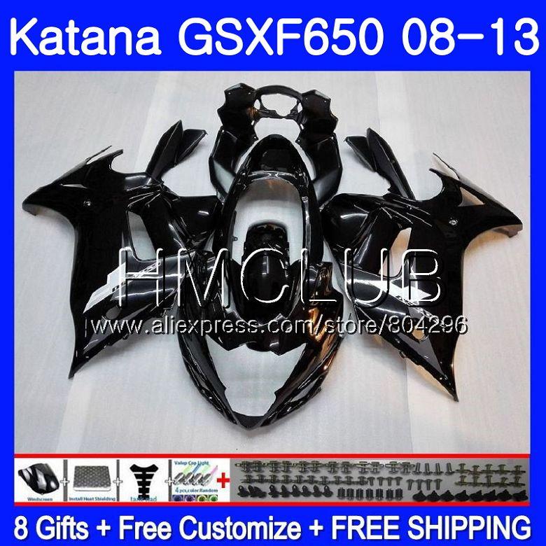 Комплект для SUZUKI KATANA gsxf 650 650F GSX650F 08 09 10 11 12 13 24HM. 3 GSXF650 2008 2009 2010 2011 2012 2013 обтекателя