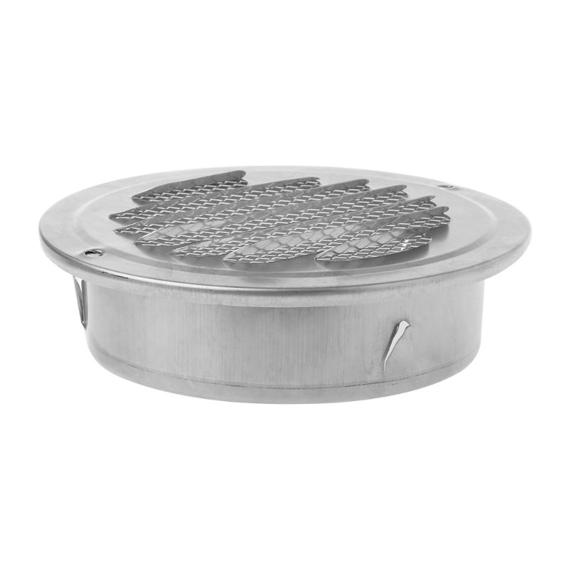 Air-Vent Grille Ducting Ventilation Exterior-Wall Stainless-Steel Round 100mm 80mm 70mm
