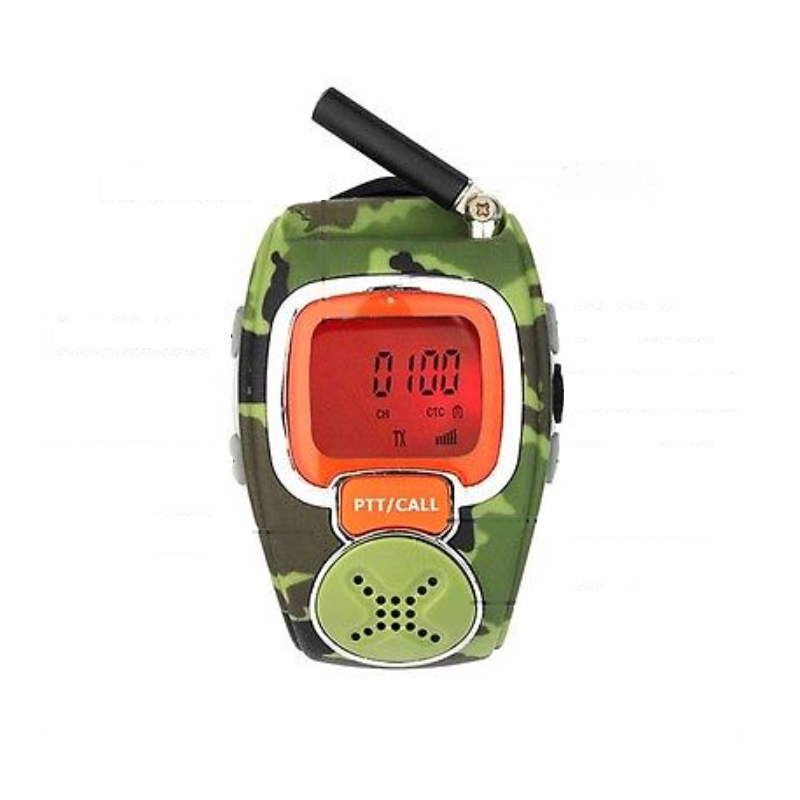 RD008 Two Way Radio Watch Wrist Walkie Talkie With Camouflage Outlook And Adjustable Band Channel Scan Hands Free Back Light LCD