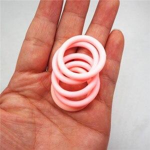 Image 4 - Chenkai 1000 pièces silicone adaptateur O anneaux bricolage bébé NUK MAM sucette factice soins infirmiers pendentif bijoux sensoriel jouet cadeau ID 21.5mm