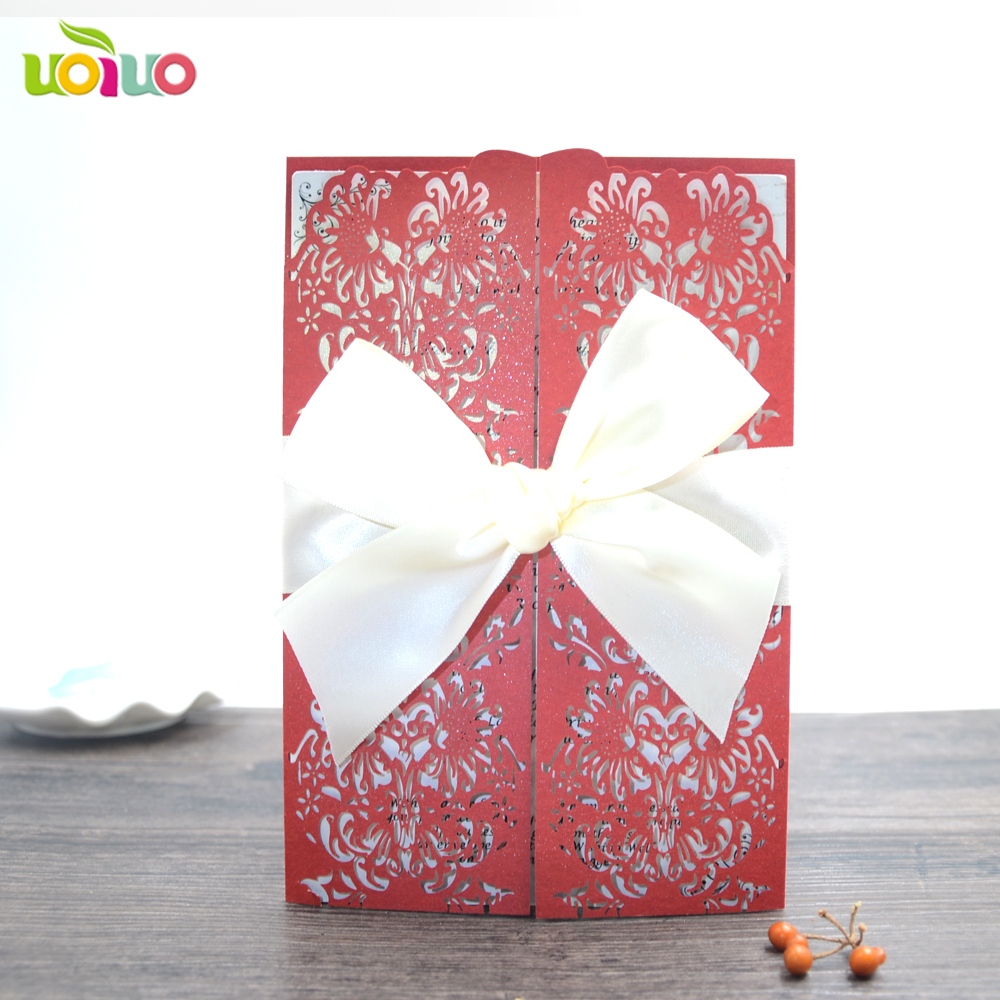 customized 50pcs/set Romantic Wedding favors laser cut tag for Candy ...