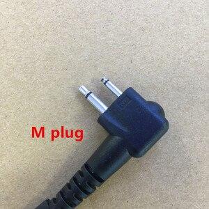 Image 2 - Big PTT clear air tube headset earphone M plug 2 pins for motorola A8,ep450,cp040,gp88s,gp2000,Hytera walkie talkie