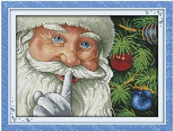 Robótki majsterkowanie DMC ścieg krzyżykowy zestawy do haftu precyzyjnie wydrukowane szczęśliwe wzory świąteczne bożonarodzeniowe haft krzyżykowy plus tanie i dobre opinie Dreampattern PORTRAIT PACKAGE Obrazy Składane 100 COTTON Europa Plastic bag