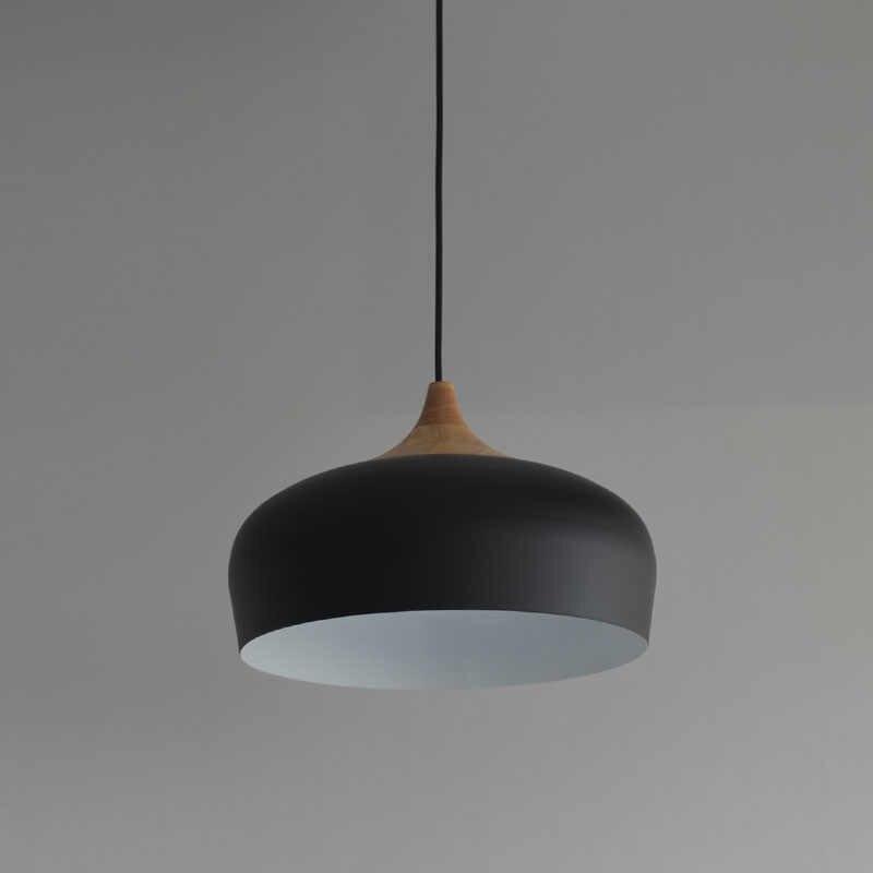 Нордический подвесной светильник Современный Ресторан пульт управления освещением японский дерева подвесные светильники черный/белый светильники AC110V/220 V E27