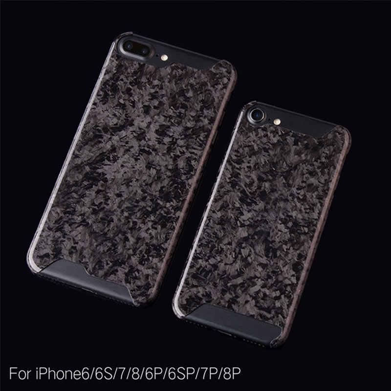 نقية ألياف الكربون الصلب رقيقة جدا حقيبة هاتف محمول موضة آيفون 7 8 plus X S R ماكس الأعمال غطاء الهاتف