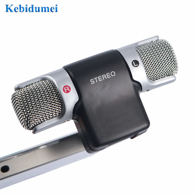 kebidumei Mini Stereo Microphone condensador Mic 3.5mm Electret Condenser Stereo Mini Jack for PC Laptop Notebook
