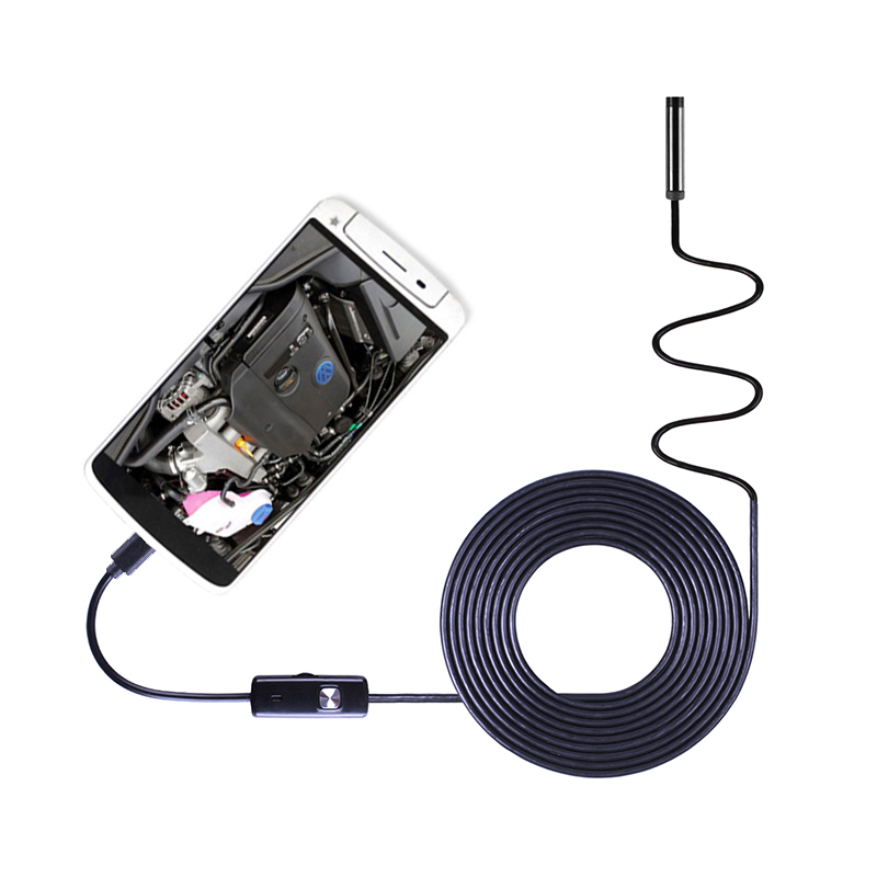 An97 Pc Android Endoscope Hd720p 8mm Lens 6led 1m/1.5m/2m/3.5m/5m Cable Waterproof Inspection Borescope For Android Phone Pc Invigorating Blood Circulation And Stopping Pains