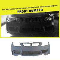 E90 TO 1M Style PU Unpainted Primer Auto Car Body Kit Front Bumper For BMW E90