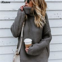 Winter Women Turtleneck Sweater Plus Size Female Casual Loose Long Sleeve Warm Womens Pullover Cable Knitted