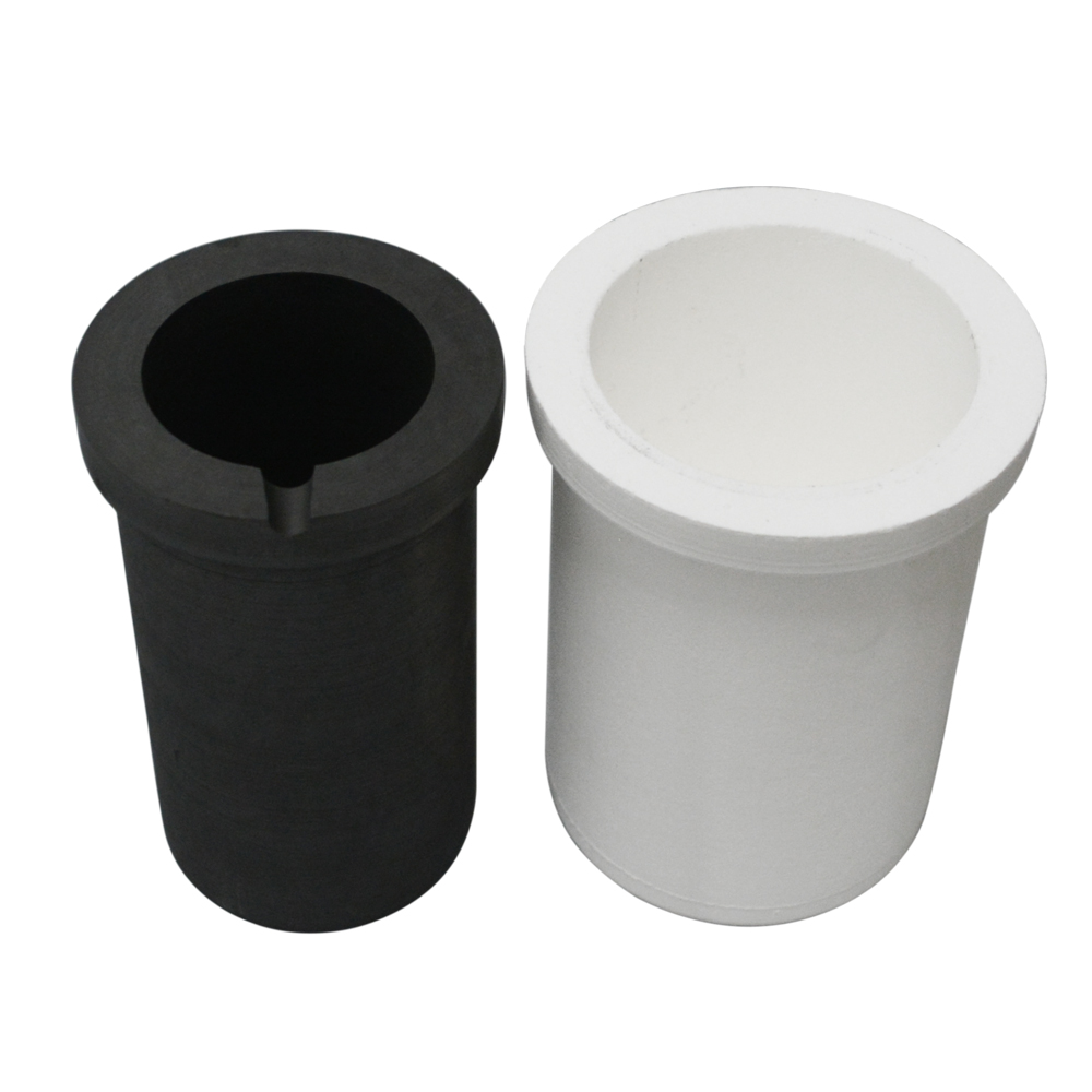 GRAPHITE CRUCIBLE WITH CERAMIC HOLDER 2 KG CAPACITY PURE SILVER