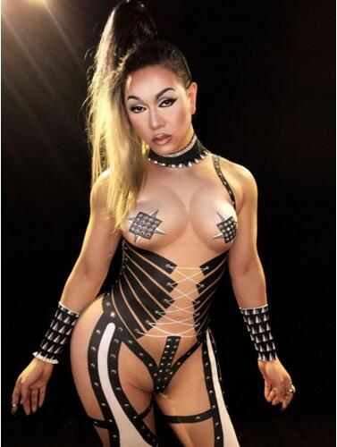 Amicable 2019nude Sexy Jumpsuit Summer Cosplay Costume Rhinestones Outfit Performance Women's Nightclub Show Party Dance Wear