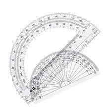 Пластиковый транспортир 180 градусов, 4 дюйма и 6 дюймов, прозрачный, 2 шт