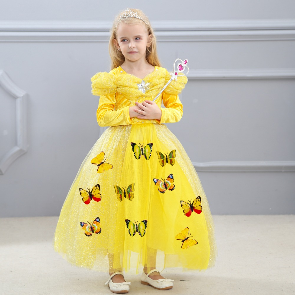 New Girls Anna Elsa Dress Children's Dress Sequined Princess Cinderella Fancy kids clothes For Party Costume Snow Queen Cosplay oki oki c9655dn