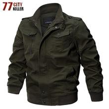 Hombre Cazadora de algodón de invierno Casual militar ejército chaqueta Vintage piloto chaquetas tipo cargo abrigos chaqueta de los hombres ropa de marca