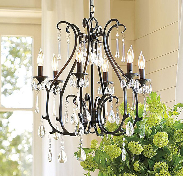 dining room bedoom study Multiple Chandelier Vintage 60cm candle Iron rural country ceiling light crystal E14 lamp lighting ZX18 dining room bedoom study multiple chandelier vintage 60cm candle iron rural country ceiling light crystal e14 lamp lighting zx18