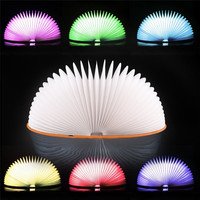 Book night light LED 7 Colors Book Light Lamp Remote Control Night Light USB Desk Table Decor Holiday gift #4m10