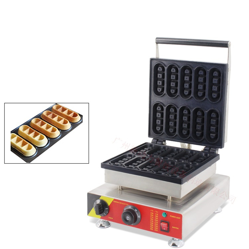 110V 220V Non-stick Commercial Electric strip-type Waffle machine Stainless Steel Electric Waffle Cake Baking Iron Furnace 10oz stainless steel 110v 220v electric commercial popcorn machine with temperature control