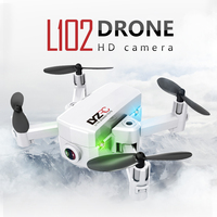 Newest Foldable Selfie Drone with Wide Angle 0.3MP/2MP HD Camera WiFi Headless Mode Upgraded RC Quadcopter Helicopter Mini Dron
