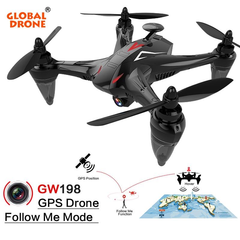 Глобальный Drone Ray GW198 Profissional Follow Me RC Дрон 5 г Wi Fi FPV системы долгое время Fly Квадрокоптер gps Дроны с камера HD 1080 P