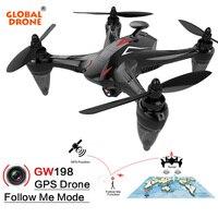 Глобальный Drone Ray GW198 Profissional Follow Me RC Дрон 5 г Wi Fi FPV долгое время летать Квадрокоптер gps Дроны с Камера HD 1080 P