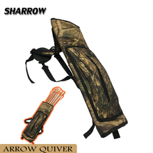 1pc Archery Arrow Quiver Oxford Cloth Holder 40pcs Hunting Accessory Camo Bag Carrier Back Shoulder Strap