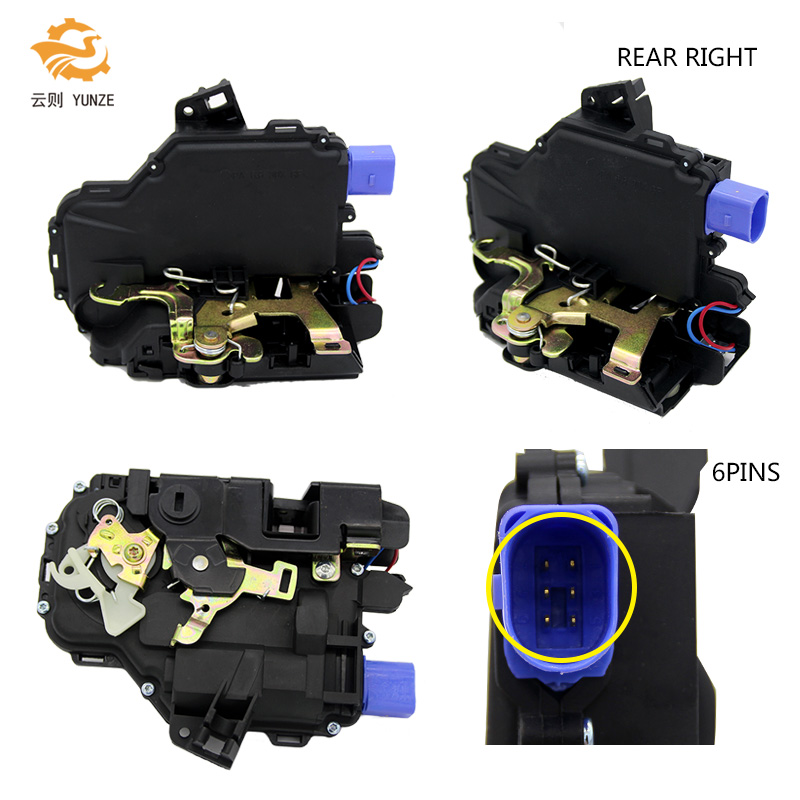 3B4839016BC REAR RIGHT SIDE DOOR LOCK ACTUATOR FOR VW T5 TRANSPORTER 2003-