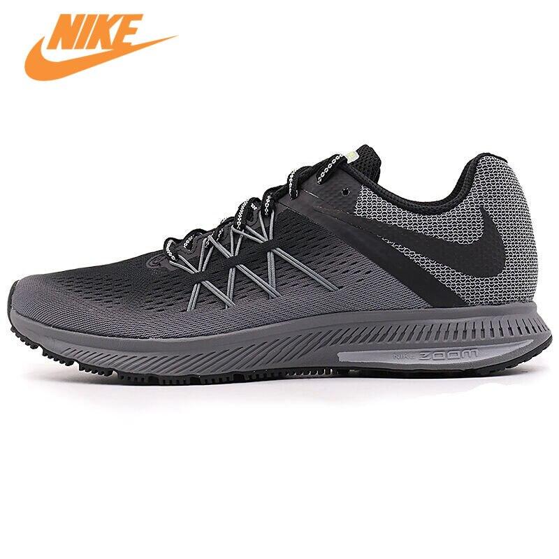 Оригинальный Новое поступление NIKE ZOOM WINFLO 3 SHIELD Для мужчин дышащие Кроссовки спортивные Спортивная обувь кроссовки