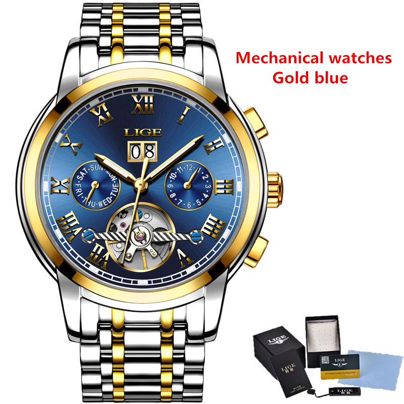 Gold blue mechanic