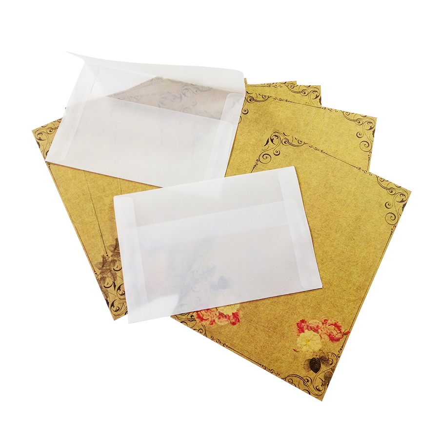 100pcs/lot Blank Translucent vellum envelopes DIY Multifunction Gift card envelope with seal sticker for wedding birthday 5