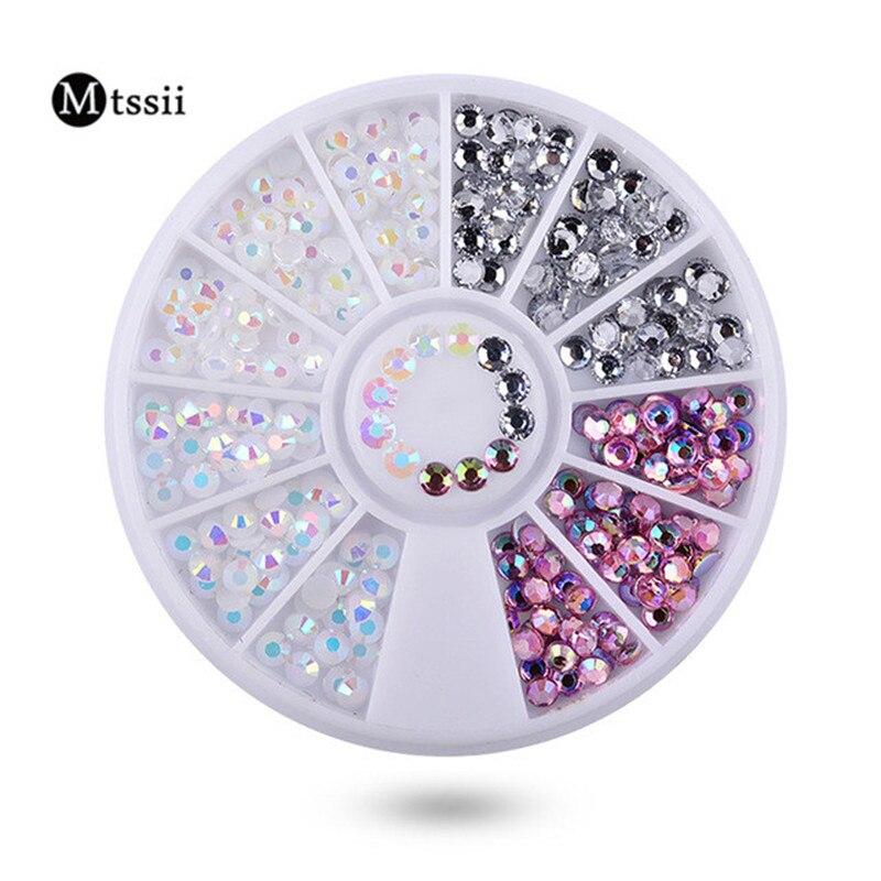 Mtssii 1 Doos Kleurrijke Hars 3D Nail Art Decoraties in Wiel Nail - Nagel kunst