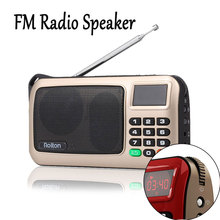 Mini FM Radio Speaker Music Player Support TF Card Receiver LED Display with 3.5mm Jack Audio MP3