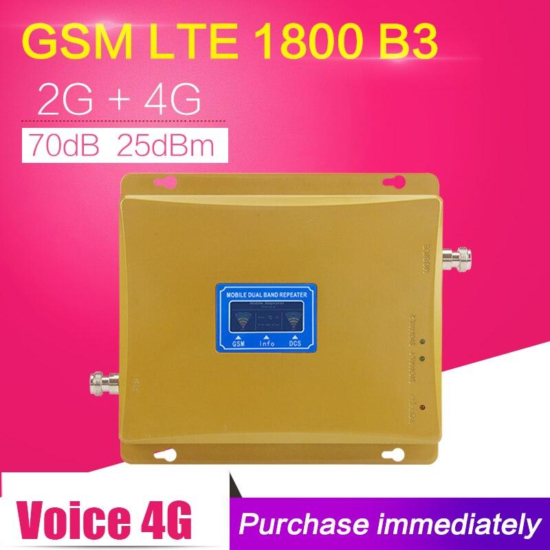LCD Dispaly GSM 4g LTE 1800 Dual Band Ripetitore di Segnale GSM 900 mhz 1800 mhz 65dB Cellulare Ripetitore di Segnale GSM LTE Amplificatore Mobile