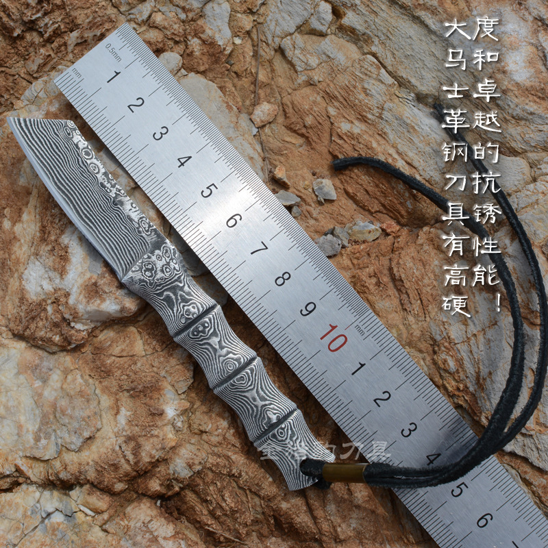 High quality Onepiece Knife Fixed Damascus Steel Blade Knife Hunting Tactical Knifes Survival Camping Knives Outdoor Tools KN400 integral forming bamboo pure handmade small survival camping knife tactical fixed blade knife hunting knives damascus vg10 steel