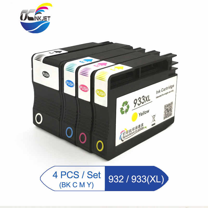932XL 933XL متوافق ل HP 932 933 932XL 933XL الحبر محبرة لـ HP Officejet 7110 6100 6600 7510 7512 7612 7610 7612 طابعة