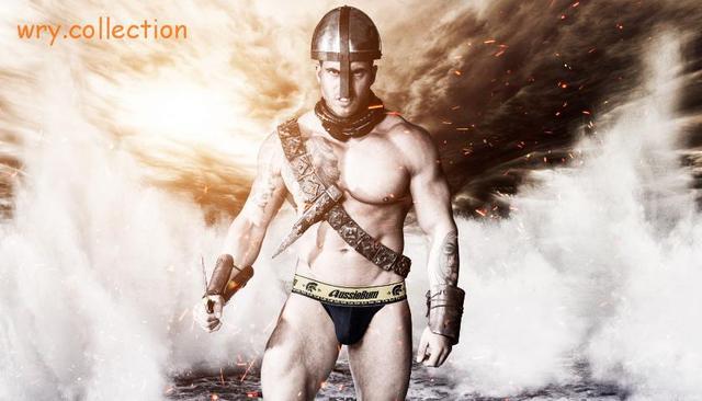 Nova chegada! De Sexy gladiador marca AUS masculino Sexy roupa interior venda calça sem frete grátis
