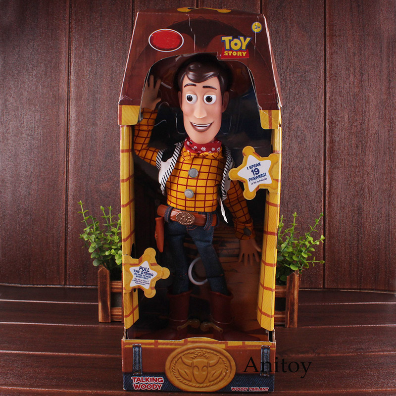 Movies Characters Toy Stoy Woody Talking Woody Fabric Toy Story Figures Dolls Gift For Children Toys For Boys цена