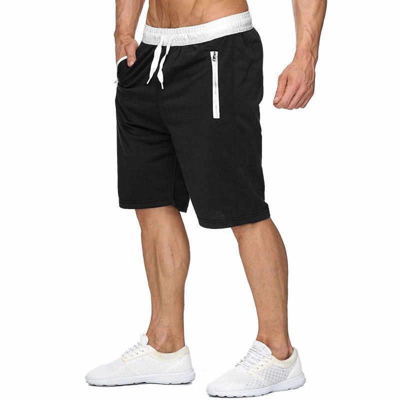 Модные брендовые мужские шорты для женщин мужской треники фитнес, бодибилдинг, тренировка человек Модные masculino 2019 сезон: весна-лето новый