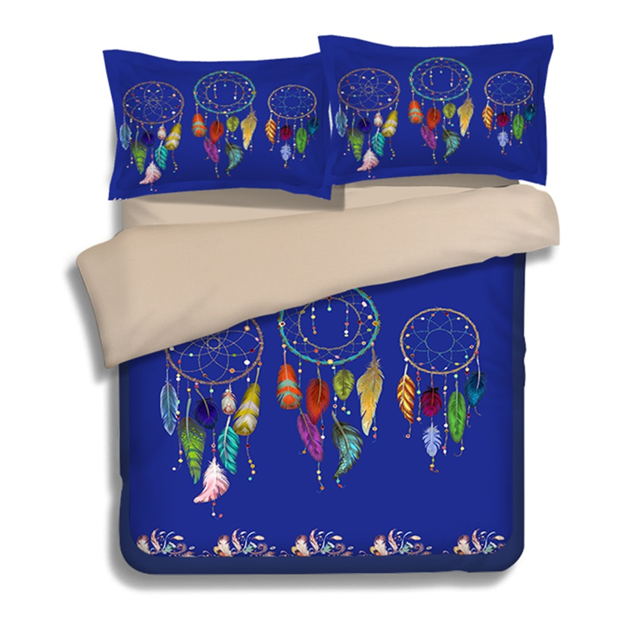 Indian Dream Catcher Bedding U.S. Twin Full Queen King Size Duvet Cover with Pillowcase Exotic Textile Sets