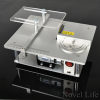 Mini Hobby Table Saw Handmade Woodworking Bench Saw DIY Model Crafts Cutting Tool With Power Adapter