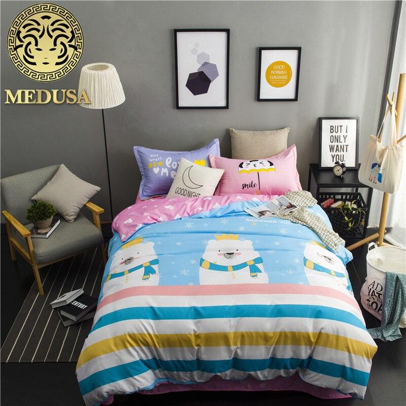 Medusa 2018 nuovo orso ragazzi/ragazze bedding set re regina doppia singola size biancheria da letto set