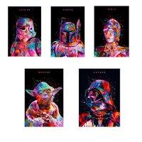 Star wars ŻOŁNIERZ, MYŚLIWY, DROID, MASTER, OJCIEC Movie iti Malarstwo Art tkanina jedwabna plakat 12x18 calowy druku
