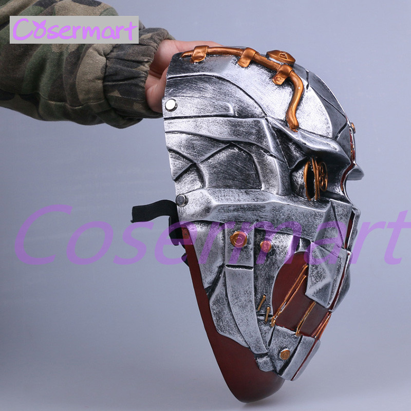 Cos Hot Game Dishonored Helmet Wearable Masks Cosplay Corvo Attano Mask Hard Resin Halloween Party