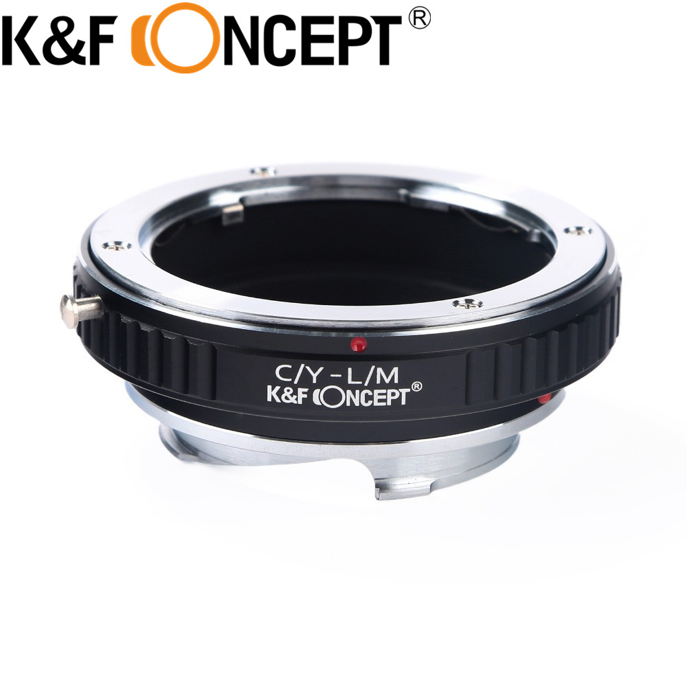 K&F Concept Lens Mount Adapter for Contax Y Mount to Leica M Lens Camera Body C / Y-L / M