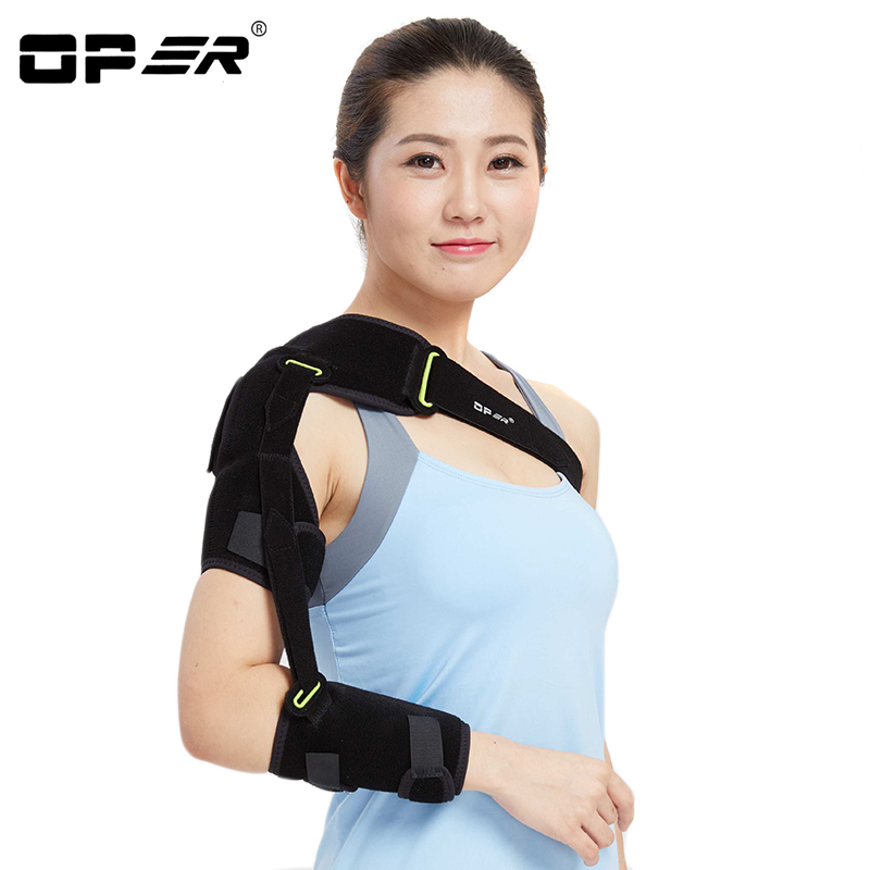 OPER Shoulder Bandage Belt Pads Arm Support Adjustable Brace Protection Posture Corrector Hemiplegia Rehabilitation Training adjustable knee joint support hinged splint wrap sprain orthosis post op brace sports knee pads fracture fixed rehabilitation